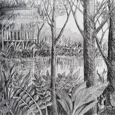 Studi Arsir 6 #pohon #art #drawing #pencil Pencil Art Drawings, Cool Drawings, Fine Art Drawing, Drawing Ideas, Birthday Gifts, Tapestry, Instagram, Sketch, Travel