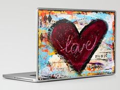 Love the Music Laptop & iPad Skin by kathleentennant - $30.00
