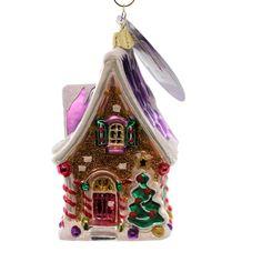 Christopher Radko Frosty Cottage Glass Ornament