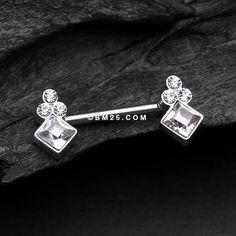 A Pair of Bali Sparkle Nipple Barbell Nipple Rings, Belly Rings, 316l Stainless Steel, Barbell, Body Jewelry, Ear Piercings, Bali, Diamond Earrings, Skull