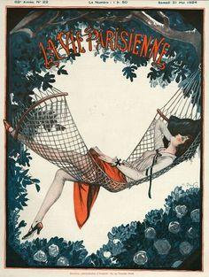 Covers Drawing - La Vie Parisienne 1924 France by The Advertising Archives Art Deco Illustration, Magazine Illustration, Cover Art, Art Français, Art Deco Art, Art Vintage, Vintage Artwork, Retro Poster, Kunst Poster