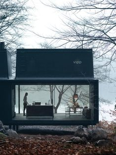 Prefab Gets a Makeover With Danish Industrial Design by Kelsey Keith For Vipp, the Danish industrial design company known for its iconic trash cans and all-black kitchens, introduces a prefab unit called Shelter. Modern Small House Design, Minimalist House Design, Minimalist Home, Modern Architecture House, Architecture Design, India Architecture, Decoration Restaurant, Casas Containers, Prefabricated Houses