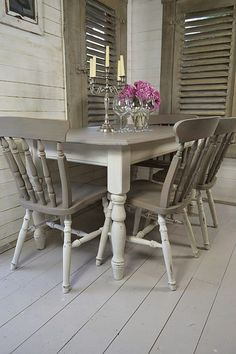 Large Grey Dining Table And Chairs.Luxury Design News: Stylish Dining Room Buffet Ideas . A Pimlico Flat Filled With French Art Deco Furniture . Home and Family Grey Dining Tables, Dining Room Table, Table And Chairs, Dining Rooms, Grey Table, Table Bench, Dining Sets, Round Dining, Wood Table