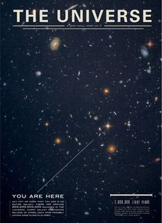 We are infinitesimal specks in this great big universe.