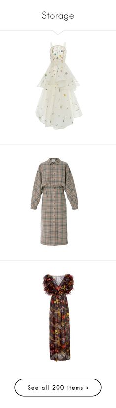 """""""Storage"""" by amberelb ❤ liked on Polyvore featuring dresses, rosie assoulin, multi, white strappy dress, strappy dress, fitted tops, white fitted top, plaid, tartan dress and long-sleeve midi dresses"""