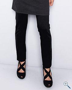 Eileen Fisher Stretch-Ponte Slim Pants
