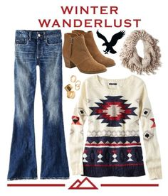 """""""Winter Wanderlust with American Eagle: Contest Entry"""" by florenciagarnero1 ❤ liked on Polyvore featuring American Eagle Outfitters, Pieces, aeostyle and winterwanderlust"""