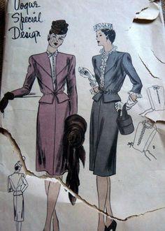Vogue S-4632   1940s Suit