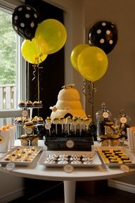 "honey bee baby shower theme... could work for gender reveal too. ""what will it Bee... He or She?"" cute."