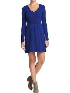 Women's Rib-Knit Sweater Dress (Blue Tango). Old Navy. $39.94
