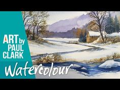 How to paint a snow scene in watercolour - No.2 - YouTube Watercolor Art Lessons, Watercolor Tips, Watercolour Tutorials, Watercolor Artists, Watercolor Landscape, Watercolor Paintings, Watercolors, Painting Snow, Painting & Drawing