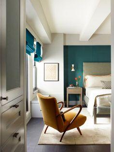 Duane Park Residence - transitional - Bedroom - New York - Damon Liss Design