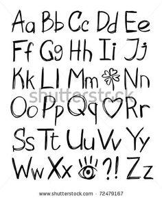 handlettering alfabet - Google zoeken