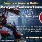 Invitaciones de Transformers 3 Gratis