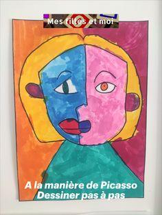 Dessiner pas à pas avec Picasso sur le thème de l'espagne, découvrez toutes nos activités IEF Maternelle