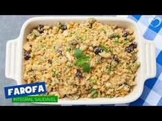 Farofa integral saudável - Blog da Mimis