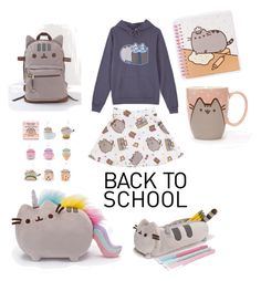 """""""#PVxPusheen"""" by thecasseygirl ❤ liked on Polyvore featuring Pusheen, contestentry and PVxPusheen"""