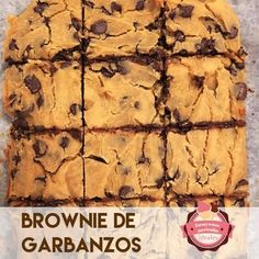 Brownie de garbanzos | Cocina Low Calorie Desserts, Vegan Desserts, Vegan Recipes, Snack Recipes, Healthy Dessert Options, Healthy Sweets, Healthy Snacks, Vegan Detox, Best Brownies