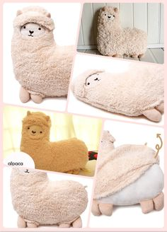 Alpaca pillow with removable wool