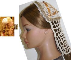 NEW Design, COIF Cap CAUL, Renaissance Medieval, Elizabethan, Juliet style Cap & Caul, Headpiece, Headdress, House of Borgia Inspired by ZzDesign on Etsy
