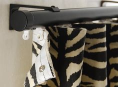Ripplefold draperies with Channel Rod from Canadian Drapery Hardware. This photo shows you that the dome tape is sewn to the drapery and the receivers/gliders are installed in the rod. Super easy to remove for dry cleaning..and re-installing. The ripple fold system offers a  contemporary clean line look for window treatments
