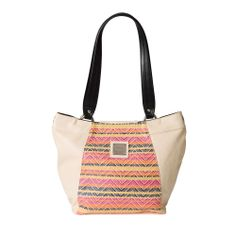 "This look is definitely an ""it"" trend. A fresh twist on the intricate patterns of tribal folk art, the Pamela for Demi Miche bags adds a whole new dimension to your collection. Lightly-textured creamy faux leather provides the perfect backdrop to Pamela's woven accent in happy shades of pink, orange, yellow and deep blue. Back zippered pocket; silver hardware; rectangular bottom. *Miche Canada* #miche #michecanada #michefashion #fashion #style #purses #handbags #accessories"