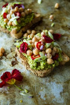 Curried Avocado Toast with Spicy Chickpeas by Heather Christo