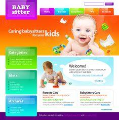 Babysitter Nanny WordPress Themes by Mercury