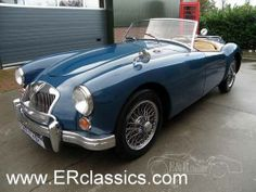 MG A MGA 1600 Cabriolet Mineral Bleu in very good condition For Sale (1960)