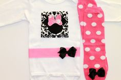 Baby girl onesie - Minnie Mouse :)