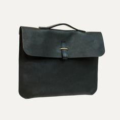 Bleu de Chauffe | Men's bag | Messenger Bag | Leather Laptop | Made in France