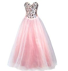 Faironly Light Pink Formal Prom Ball Dress:Price: $125.00