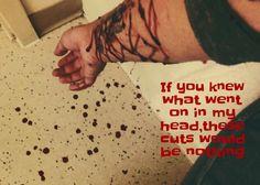 Self harming self harmer self harm cutter cutting cut myself blood trigger razors blades slicing arms wrists depression death dying