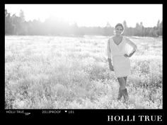 High School Senior Portrait Photographer Holli True photographs Summit Class of 2013 graduate Lyndsey in Bend Oregon at sunset in a field.