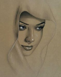 Portrait Drawing Inpspire an artist in you! Skeching by artist Pencil Art Drawings, Realistic Drawings, Art Drawings Sketches, Drawing Lips, Pencil Portrait, Portrait Art, Woman Portrait, Toned Paper, Portraits From Photos