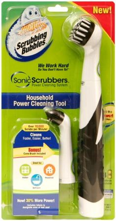 SonicScrubbers HT Scrubbing Bubbles Power Household Cleaning
