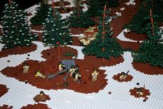Battle of the Bulge LEGO Display at the First Division Museum at Cantigny Park in Wheaton, IL