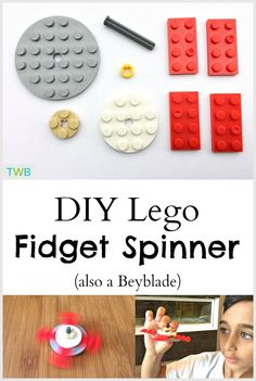 Easy DIY Lego Fidget Spinner and Beyblade - The Write Balance