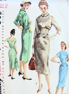 1950s Simplicity 1678 Vintage Sewing Pattern by SoVintageOnEtsy, $35.00