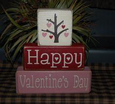 Valentine's Day blocks