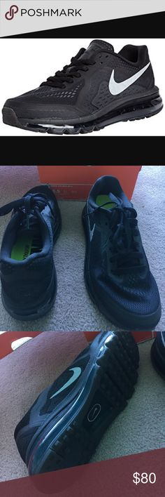 New in box black Nike air max 2014 size 5.5 NEW in box women's Nike air max 2014 in 5.5 color black with grey swoosh. Nike Shoes Sneakers