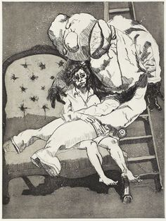 Paula Rego - Lamentation (etching and aquatint)