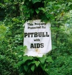 ♡ Funny Sign ♡ And how the dog got AIDS ... well that's a different sign.