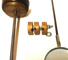 Evan Lindquist artist-printmaker, the main parts: magnifier stand, coupler, lens arm