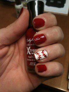 Baseball nails. #Love