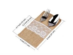 Burlap Utensil Holders Knifes Forks Bag Cutlery Wedding Burlap