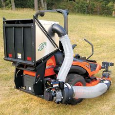 DFS (Dump From Seat) Commercial Zero Turn Vac System - HP B&S Vanguard-A mower mounted aluminum box designed for lightweight and obstruction free dumping from the operator s seat. The Pro 12 DFS (Dump From Seat) is guaranteed to increase pr Lawn Equipment, Outdoor Power Equipment, Yard Sheds, Yard Tools, Dfs, Leaf Blower, Patio Design, Lawn Mower, Agriculture