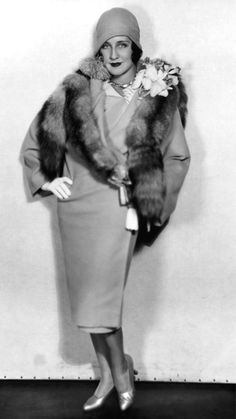 Norma Shearer with real fur....yum!!! 1920's. @designerwallace