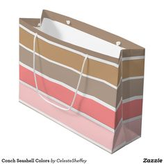 Conch Seashell Colors Large Gift Bag