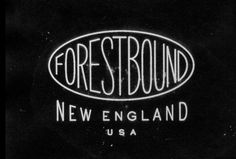 "Forestbound logo - ""type lock-up"" style 2"
